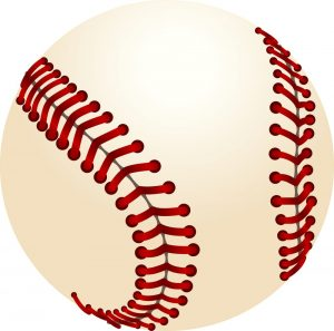 Cartoon rendering of a baseball.
