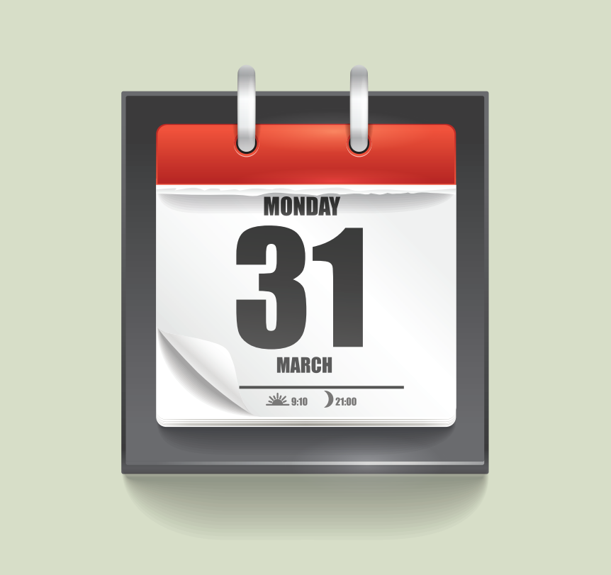 A daily calendar is shown in the center of the image.