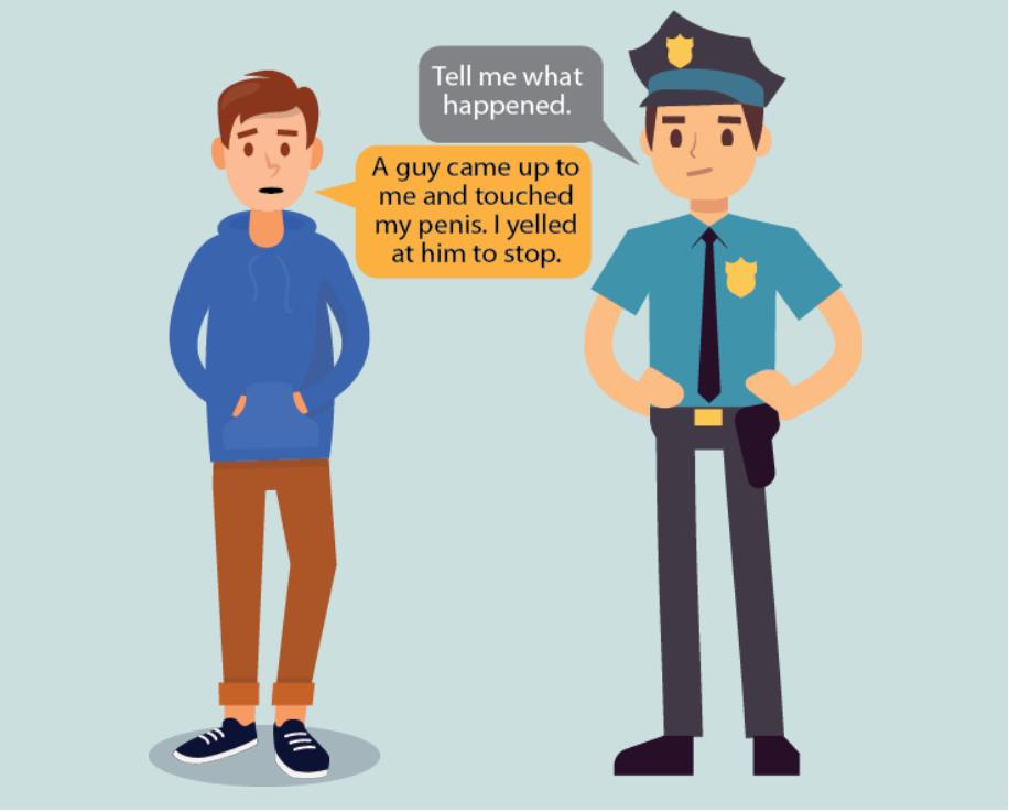 A policeman says,