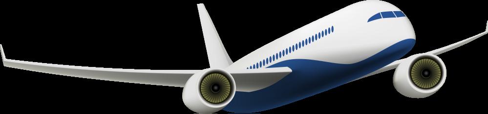 Cartoon rendering of airplane.