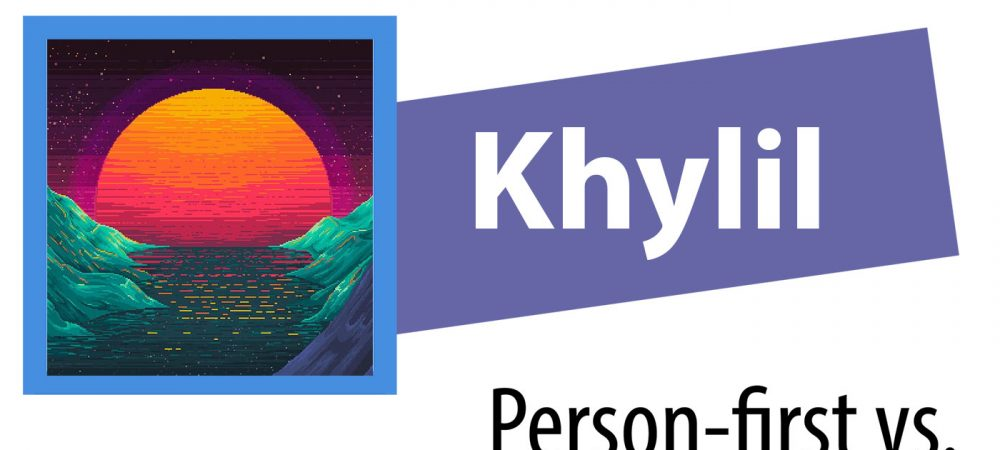Blogger Khylil's identifier for the How I See It series includes his name, the series name and a stylized sunset.