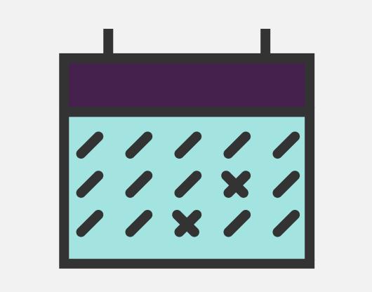 A cartoon rendering of a calendar.