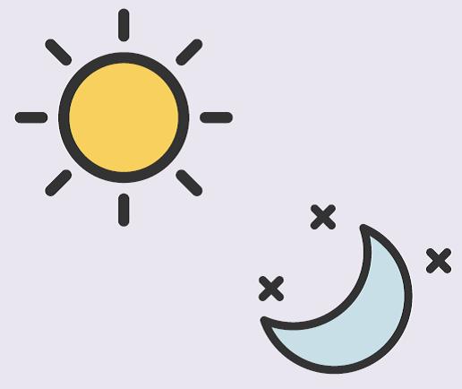 A sun and moon.