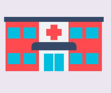 A cartoon rendering of an emergency department.