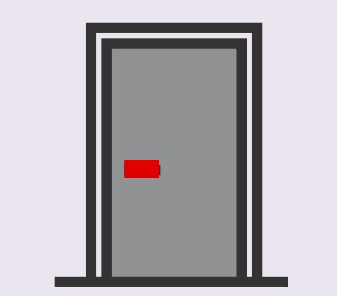 A cartoon rendering of a door.