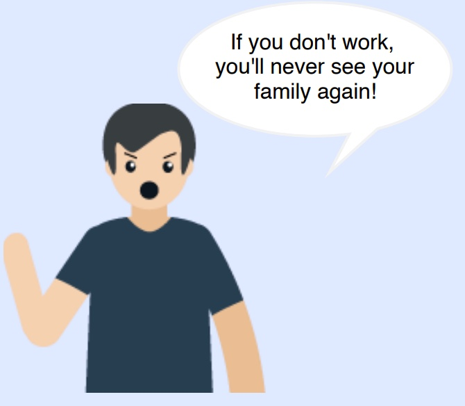 A man saying